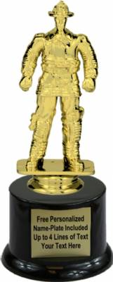 "7"" Fireman Trophy Kit with Pedestal Base"