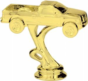 "Gold 3 3/8"" 4 X 4 Truck Trophy Figure"