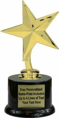 "6 3/4"" Star Trophy Kit with Pedestal Base"