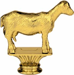 "Gold 3 1/2"" Dairy Goat Trophy Figure"