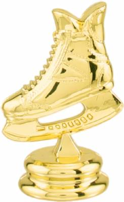 "Gold 2-1/2"" Hockey Skate Trophy Figure"