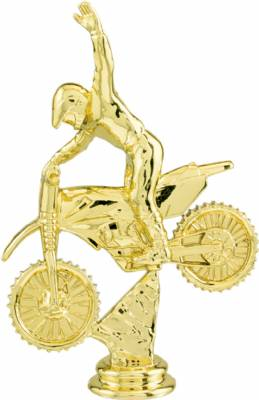 "6"" Gold Motocross Trophy Figure"