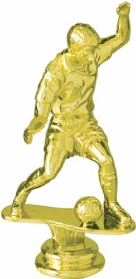 "Gold 5"" Male Soccer Trophy Figure"