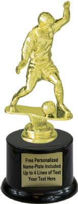 "7"" Male Soccer Trophy Kit with  Pedestal Base"