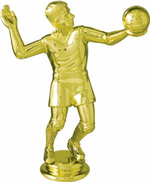 "5-1/4"" Male Volleyball Trophy Figure"