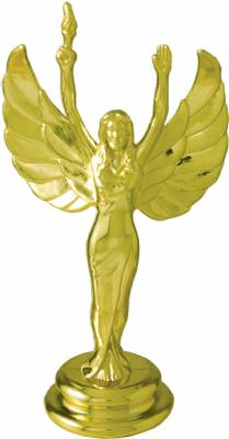 "Gold 4-1/2"" Female Victory Trophy Figure"