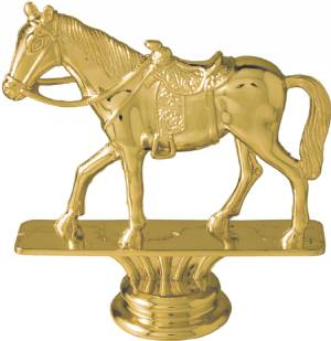 "GOLD 3 3/4"" Western Horse Trophy Figure"