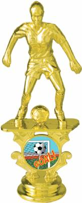 "5-1/2"" Female Soccer Motion Graphic Trophy Figure"