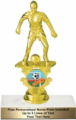 "6 1/4"" Female Soccer Motion Graphic Trophy Kit"