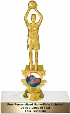 "7"" Female Basketball Motion Graphic Trophy Kit"