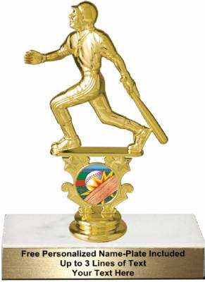 "6 1/4"" Male Baseball Motion Graphic Trophy Kit"