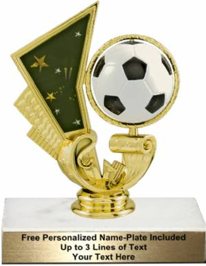 "5 1/4"" Soccer Spinning Trophy Kit"