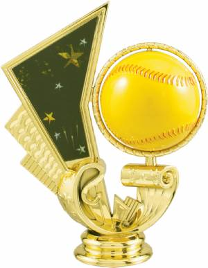 "4 1/2"" Softball Spinning Trophy Figure"