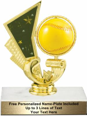 "5 1/4"" Softball Spinning Trophy Kit"