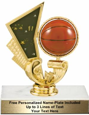 "5 1/4"" Basketball Spinner Trophy Kit"