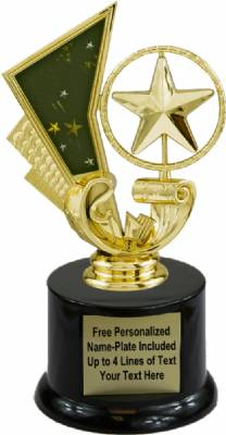 "6 1/2"" Star Spinning Trophy Kit with Pedestal Base"