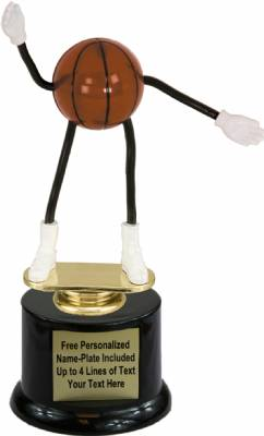 "7"" Trophy Dude Bendable Basketball Trophy Kit with Pedestal Base"