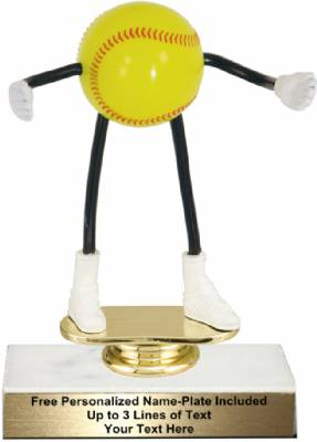 "5 3/4"" Trophy Dude Bendable Softball Trophy Kit"