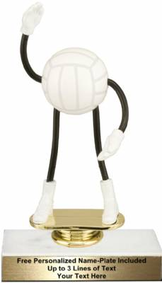 "5 3/4"" Trophy Dude Bendable Volleyball Trophy Kit"