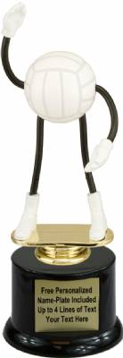 "7"" Trophy Dude Bendable Volleyball Trophy Kit with Pedestal Base"