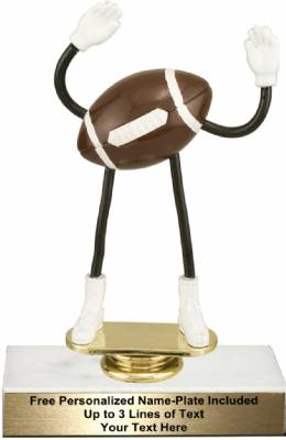"5 3/4"" Trophy Dude Bendable Football Trophy Kit"