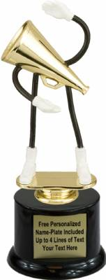 "7"" Trophy Dude Bendable Cheerleader Trophy Kit with Pedestal Base"