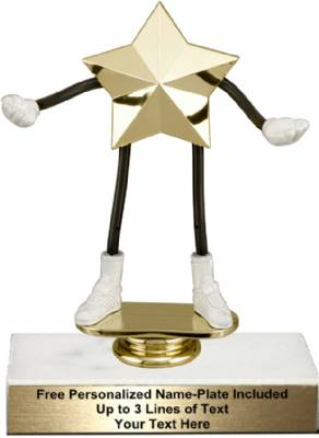 "5 3/4"" Trophy Dude Bendable Star Trophy Kit"