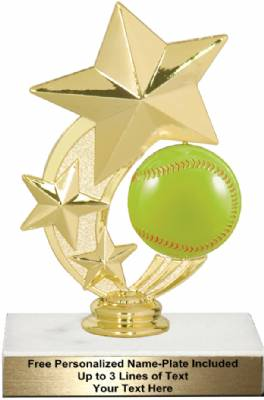 "6"" Softball Star Spinning Trophy Kit"