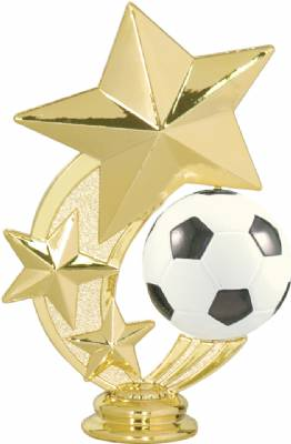 "5 1/4"" Soccer 3 Star Spinning Trophy Figure"