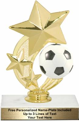 "6"" Soccer Star Spinning Trophy Kit"