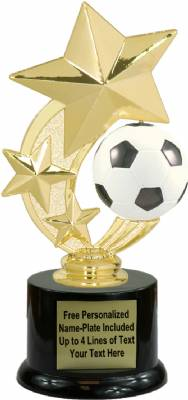 "7 1/4"" Soccer Star Spinning Trophy Kit with  Pedestal Base"
