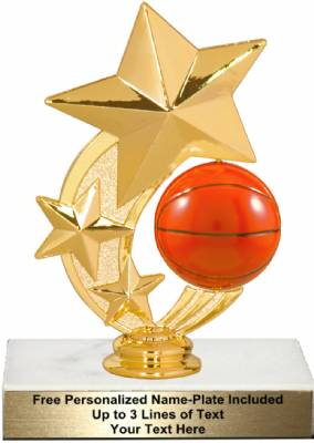 "6"" Basketball Star Spinning Trophy Kit"