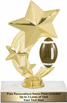 "6"" Football Star Spinning Trophy Kit"