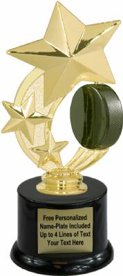"7 1/4"" Hockey Star Spinning Trophy Kit with Pedestal Base"