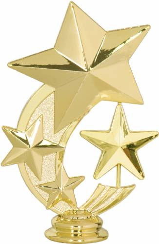 "5 1/4"" 3 Star Spinning Trophy Figure"
