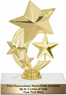"6"" 3 Star Spinning Trophy Kit"
