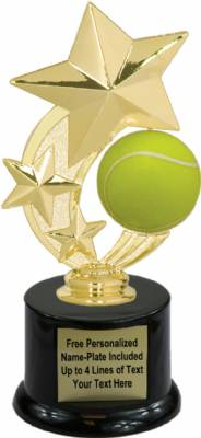 "7 1/4"" Tennis Star Spinning Trophy Kit with Pedestal Base"