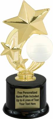 "7 1/4"" Volleyball Star Spinning Trophy Kit with Pedestal Base"