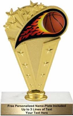 "6 3/4"" Colored Flame Basketball Trophy Kit"