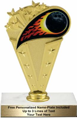 "6 3/4"" Colored Flame Bowling Trophy Kit"