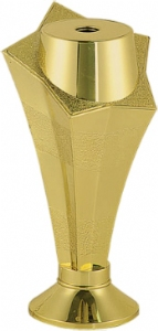 "Gold 5"" Star Column Trophy Riser"