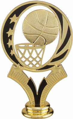 "Gold 5"" Basketball MidNite Star Trophy Figure"
