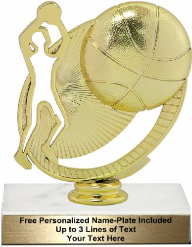 "5 3/4"" Basketball Silhouette Trophy Kit"