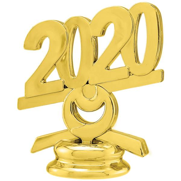 "2 1/2"" Gold Circle 2020 Year Date Trophy Trim Piece"
