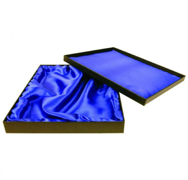 "9"" x 12"" Black Regal Plaque Box with Satin Lining"