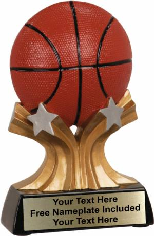"5"" Basketball Trophy Shooting Star Series Resin"