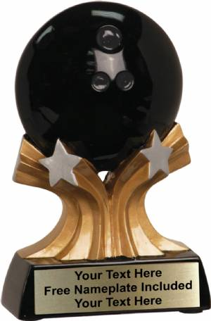 "5"" Bowling Trophy Shooting Star Series Resin"