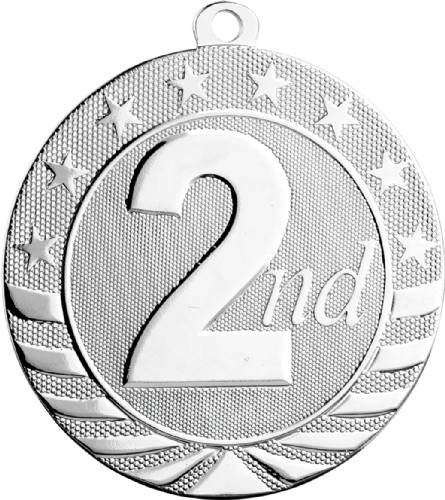 "2 3/4"" Silver 2nd Place Starbrite Series Medal"