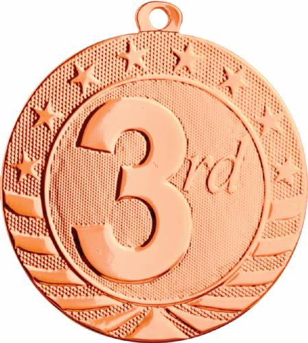 "2 3/4"" Bronze 3rd Place Starbrite Series Medal"