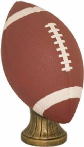 "5 3/4"" Hand Painted Football Resin"